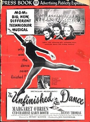 THE UNFINISHED DANCE pressbook, Margaret O'Brien, Cyd Charise, Karin Booth