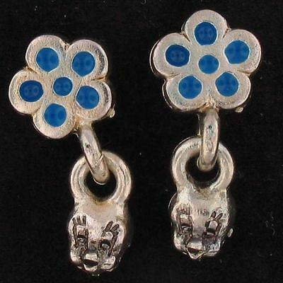 EARRINGS Tweety Bird WARNER BROS LOONEY TUNES Silver BLUE FLOWER WB STORE 4891