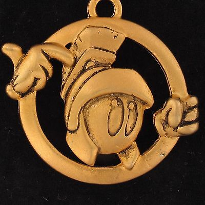 Charm Marvin The Martian Warner Bros Looney Tunes Steering Wheel Gold 3D Wb 4014