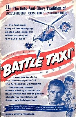 BATTLE TAXI pressbook, Sterling Hayden, Arthur Franz, Marshall Thompson