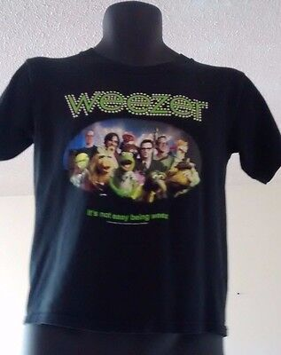 Weezer 2002 Tour T Shirt Muppets It's Not Easy Being Weez