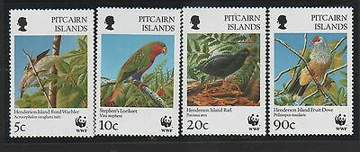 Pitcairn Is. 1996 Endangered  Seabirds set of 4 with WWF Logo MNH