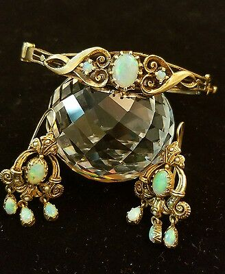 Beautiful Vintage Victorian 14K Yellow Gold Bracelet & Earing Set Super ☆Rare☆