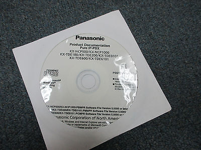 Panasonic KX-TDE100 KX-NCP500 KX-TDE200 IP PBX Documentation CD PSQY1056UA-AS+V