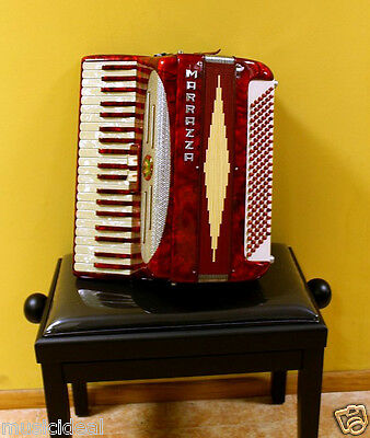 RARE TOP ACCORDION VINTAGE MARRAZZA 120 bass &Original Case Made in Italy - 50's