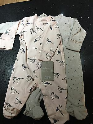 Bnwt Pretty Girls Sleepsuits Mamas And Papas 0-3