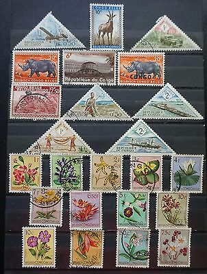 CONGO  BELGIAN CONGO   Lot of 24 different OLD STAMPS  used Lot #3