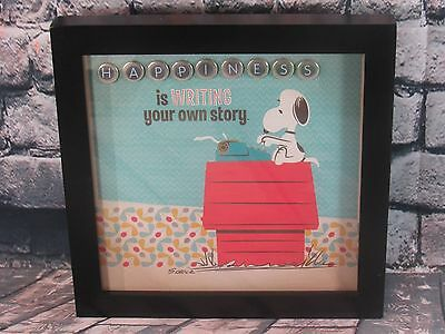 "Hallmark Peanuts Framed Snoopy Print ""Happiness Is Writing Your Own Story"""