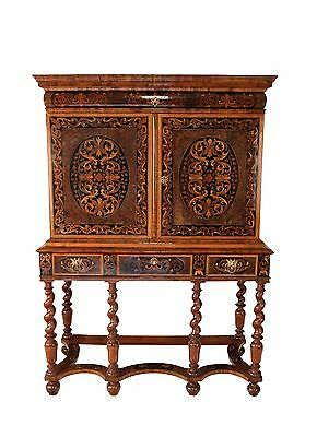 William and Mary period late 17th century cabinet on stand