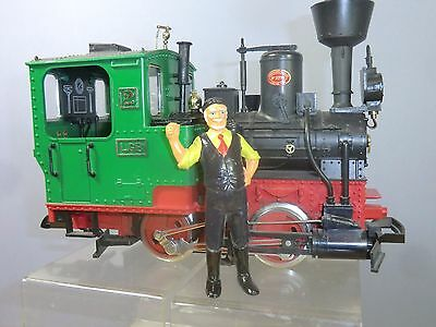 "Vintage ""g"" Scale  Lgb Style Hand Painted Figure "" Engine Driver With Pipe"""