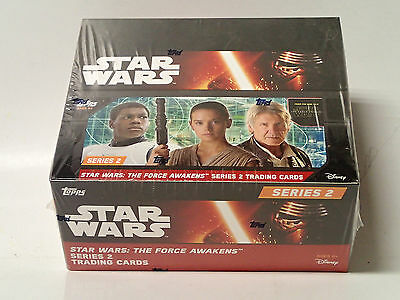 STAR WARS: Force Awakens Series 2 Sealed Retail Box of Trading Cards! 24 Packs