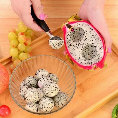Kitchen Spoon Double-end Cook Ice Cream Double Steel Scoop Baller Melon Fruit