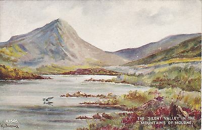 Artist Drawn, Silent Valley, MOUNTAINS OF MOURNE, County Down, Ulster