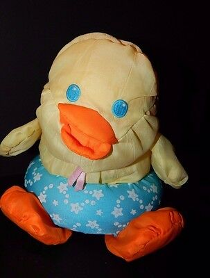 Vintage 1988 Fisher Price Tubby Duck Floating Puffalump Plush Bath Pool Toy  8""