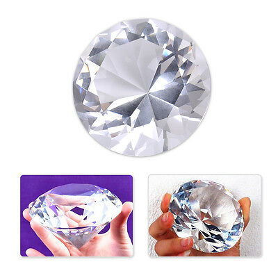 60mm Big Clear Crystal Glass Cut Giant Diamond Jewel Paperweight Wedding Decor