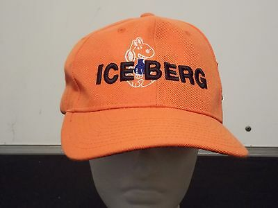 NWT ICEBERG Snoopy BALL CAP HAT EMBROIDERED Velcro ADJUSTABLE