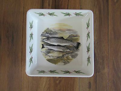 """PORTMEIRION~The Complete Angler British Fish~9 1/2"""" Square Bake Dish~A F Lydon"""