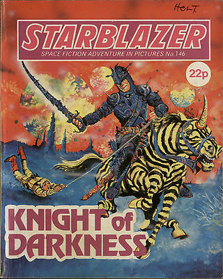 Knight Of Darkness,starblazer Space Fiction Adventure In Pictures,no.146,1985