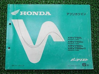HONDA Genuine Used Motorcycle Parts List Africa Twin Edition 6 RD04-100~106