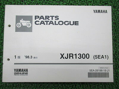 YAMAHA Genuine Used Motorcycle Parts List XJR1300 Edition 1 RP01J