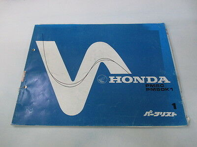 HONDA Genuine Used Motorcycle Parts List Edition 1 PM50
