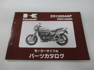KAWASAKI Genuine Used Motorcycle Parts List ZR1200A6F