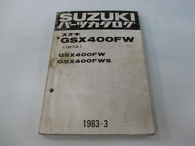SUZUKI Genuine Used Motorcycle Parts List