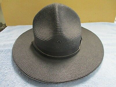 Vintage THE LAWMAN Police officers Trooper hat Sz 7 1/4 Made In USA