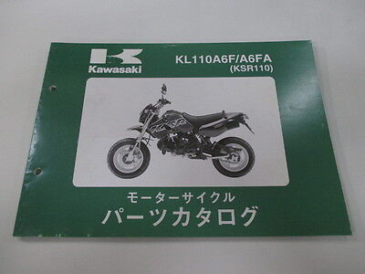 KAWASAKI Genuine Used Motorcycle Parts List KL110A6F A6FA