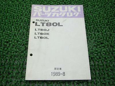 SUZUKI Genuine Used Motorcycle Parts List LT80L