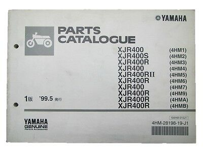 YAMAHA Genuine Used Motorcycle Parts List XJR400 S R R Ii Edition 1 4HM