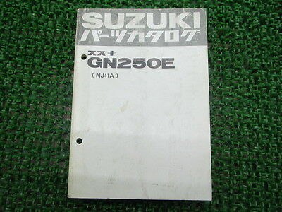 SUZUKI Genuine Used Motorcycle Parts List GN250E NJ41A