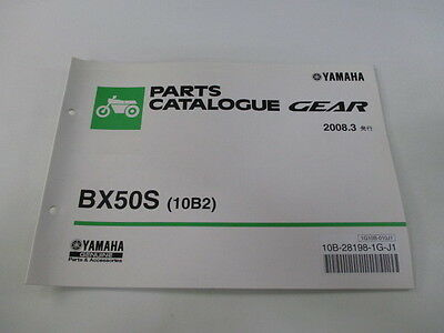 YAMAHA Genuine Used Motorcycle Parts List Gear Edition 1 BX50S 10B2