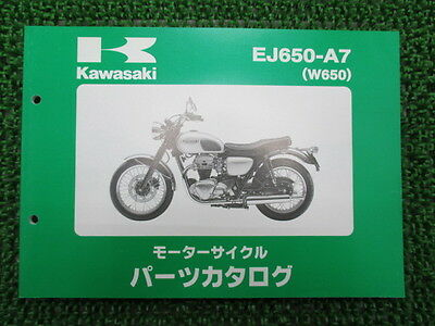 KAWASAKI Genuine Used Motorcycle Parts List W650 EJ650-A7