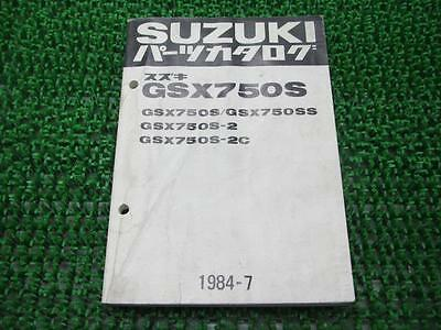 SUZUKI Genuine Used Motorcycle Parts List GSX750SKatana GS75X-106815~ 114747~