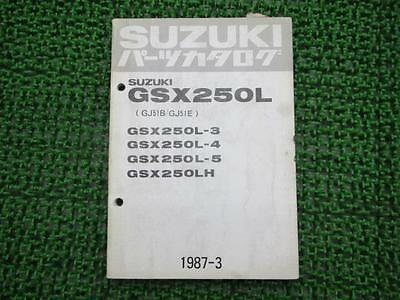 SUZUKI Genuine Used Motorcycle Parts List GSX250L 3 4 5 LH GJ51B E
