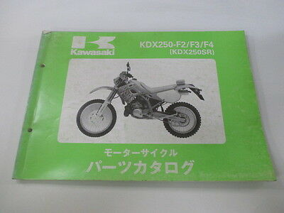 KAWASAKI Genuine Used Motorcycle Parts List KDX250-F2 F3 F4