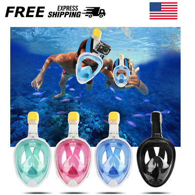 4 Color Adult/Kid Seaview 180Panoramic Swimming Snorkel Mask Full Face for GoPro