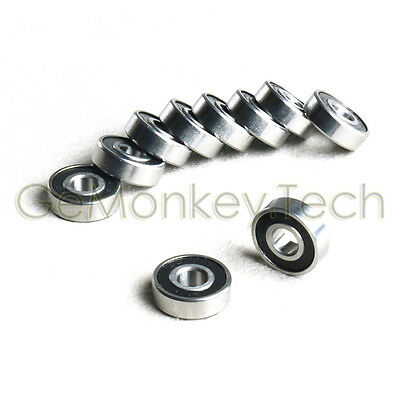 10PCS 7*19*6mm Rubber Sealed Ball Miniature Bearing 607-2RS 607RS R1970HH