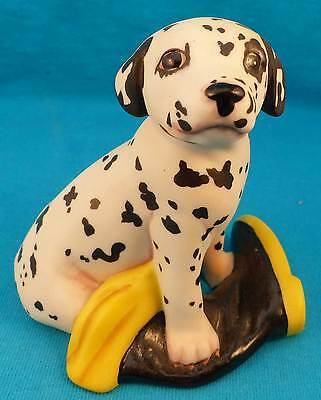DALMATIAN puppy fireman boot 1987 EXCELLENT dog FREE SHIPPING