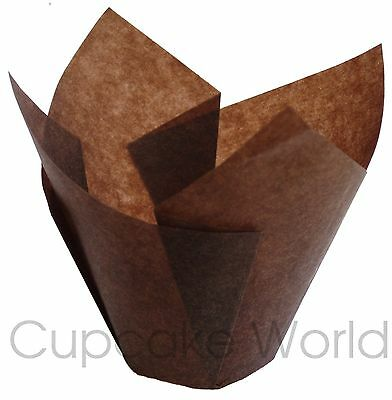 25Pcs Brown Standard Cafe Style Paper Muffin Cupcake Wraps Cup Cake Case Liners