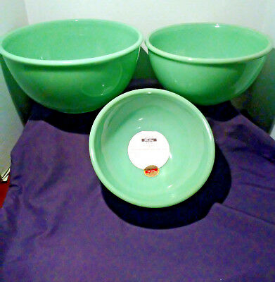 Anchor Hocking Fire King Jade-Ite 2000 Mixing Bowls Nesting Set