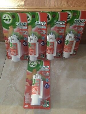 5 Air Wick Freshmatic Compact Spray 5 different  fragranc Refills new ..........