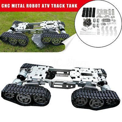 Metal ATV Tracked RC Robot Tank Chassis Suspension Obstacle Crossing Crawler DIY
