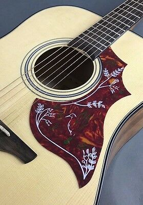 Hummingbird Style Acoustic Guitar Pick Guard ,Red Celluloid ,Premium