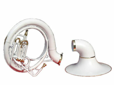 Brand New:sousaphone.tuba_White*colored 25'' Bell_Bb Pitch *w/bag&mp Brassitem