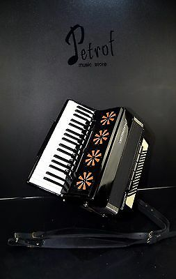 TOP GERMAN ACCORDION WELTMEISTER STELLA 96 BASS,16 sw.&BRAND NEW SHOULDER STRAPS