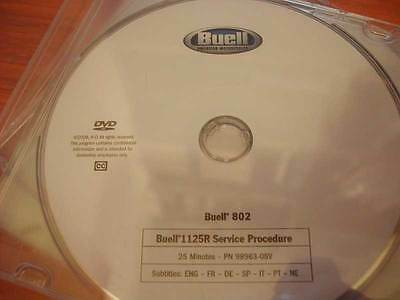 OEM Buell 1125R Factory DVD Service Videos: Service Procedure