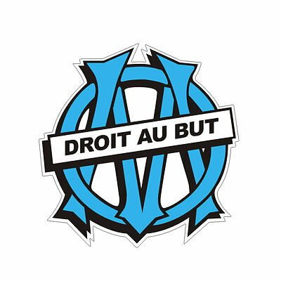 Sticker plastifié OLYMPIQUE de MARSEILLE - OM - FOOT - 9cm x 9cm