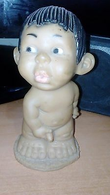 Vintage Rubber Doll Rude Cheeky Boy Nude  Naked 70's  Retro Rare Gloobee Like